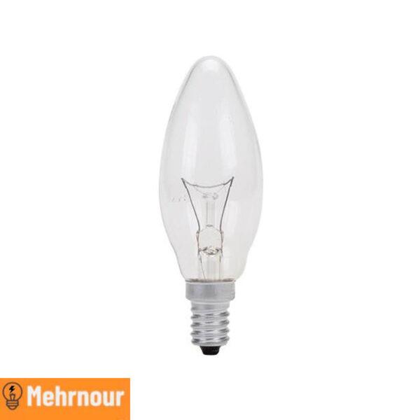 مشخصات، قیمت و خرید لامپ رشته ای 60 وات شمعی | فروشگاه اینترنتی لوازم الکتریکی در کرج