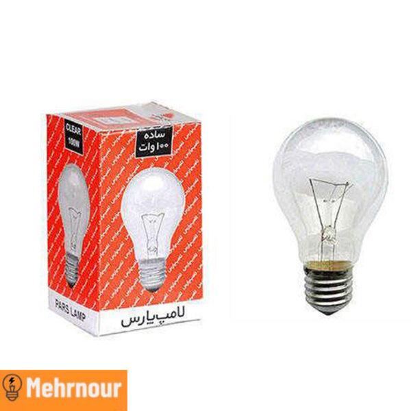 مشخصات ، قیمت و خرید لامپ رشته ای 100 وات | فروشگاه اینترنتی لوازم الکتریکی مهرنور در کرج