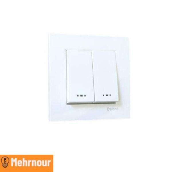 مشخصات ، قیمت و خرید کلید دو پل روکار دلند   فروشگاه اینترنتی لوازم الکتریکی مهرنور در کرج