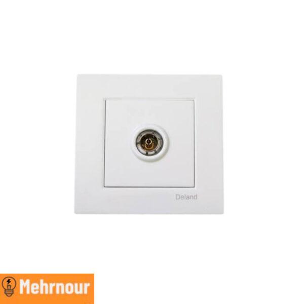 مشخصات ، قیمت و خرید پریز آنتن مرکزی دلند | فروشگاه اینترنتی لوازم الکتریکی مهرنور در کرج